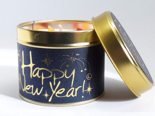 Lily-Flame tinned candle - Happy New Year!